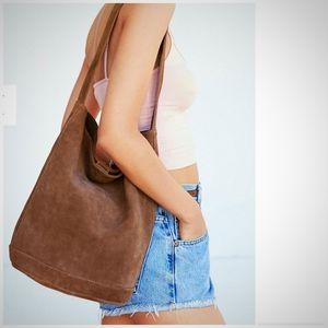 UO Kimchi Blue Brown Suede Shoulder Bag. NWT